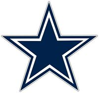 "Dallas Cowboys NFL Logo Vinyl Decal Sticker New - You Pick Size 3""-28"""