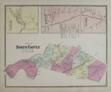 Original 1867 Beers Map ARMONK KENSICO NORTH CASTLE Westchester County New York
