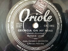 """78 rpm 10"""" CARL FISHER georgia on my mind / youre just"""