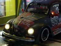 Slotcar LED Beleuchtung WARMWEISS Front & Heck mit STANDLICHT für Revell   88888