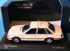 OPEL SENATOR 3.0 E TAXI 1980 MINICHAMPS 400045195 1/43 BLANC CREME CAR WAGEN