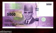COMOROS (COMORES) 5000 5,000 FRANCS 2006 P 18 UNC