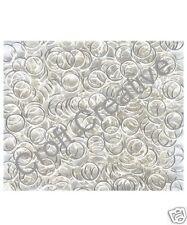 500 SILVER PLATE JUMP RINGS (6MM DIAMETER) - JEWELLERY CRAFT