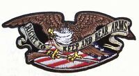 RIGHT TO BEAR ARMS EAGLE EMBRODIER PATCH P6110 ironon applique iron on sewn new