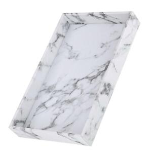 Kitchen Serving Tray Marble Faux Leather