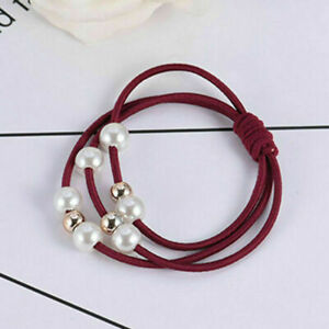 10PCS Elastic Hair Rope Headwear Ties Ponytail Holder Head Band Hairband Women