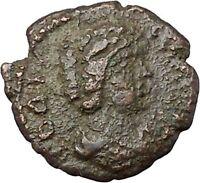 JULIA DOMNA 193AD Nicopolis ad Istrum Authentic Ancient Roman Coin EAGLE i45391