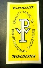 """Vintage Winchester Decal Sticker """"Quality made by Professional Shooters"""""""
