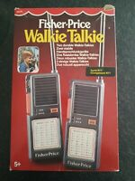 Fisher Price Paire vintage toys Walkie Talkie en boîte 1985 Test OK Morse OK
