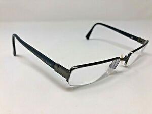 Giorgio Armani Eyeglasses GA542 R80 52-19-140 Italy Blue Half Rimless H641
