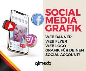 Social Media Grafik, Webbanner Instagram, Facebook, Youtube, Google