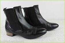 Bottines Boots Cavalières ANDRE Cuir Noir T 36 TBE