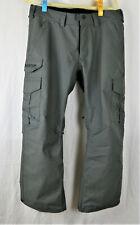 Men's Burton Cargo DryRide Ski/Snowboarding Pants Gray Regular Fit Short Large
