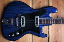 Very rare vintage Markneukirchen Taco M & Co Blue Paillettes electric bass