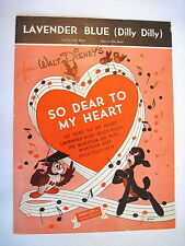 """1948 Sheet Music of """"Lavender Blue (Dilly Dilly)"""" From Walt Disney *"""