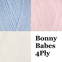 Robin Bonny Babes 4Ply Crochet Knitting Acrylic Wool Yarn 100g Ball 3 Colours
