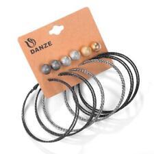 Hoop and Stud Earring Set Large Hoop Earrings Silver to Black