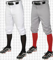 Easton Pro + Adult Men's Knicker Baseball Softball Pants White or Grey A167103