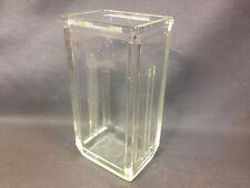 Ancien vase en verre vintage design 20ème HYDRA WM3 style art déco