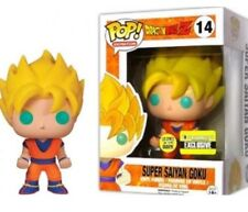 New Mint Dragonball Z DBZ Super Saiyan Goku Glow in Dark EE Exclusive Funko Pop