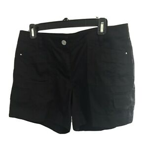 White House Black Market Linen Blend Shorts, Flat Front, Pockets, 6