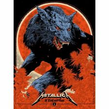 """More details for metallica limited edition # poster 7/7 series """"of wolf and man"""" black album 2021"""