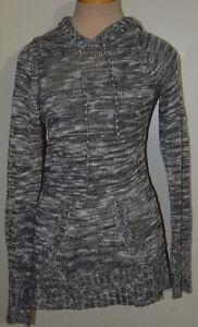 Women's Rue 21 Gray Blend Long Sleeve Hoodie Sweater Top Sizes S, M, L, XL