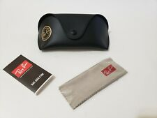 Ray Ban Black Sunglasses With Case and Cleaning Cloth