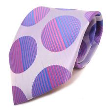 Designer Krawatte silber rosa blau babyrosa babyblau gepunktet - Schlips Binder