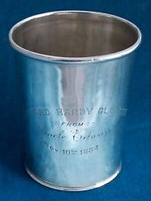 Good Sterling Silver Julep Cup Fletcher & Bennett Louisville, Kentucky Ca, 1860