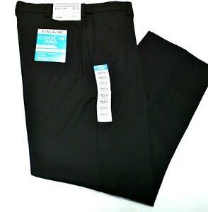 Men's Haggar Classic Fit No Iron Cool 18 Pro Flat Front Black Color Pants
