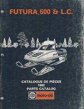 1982 MOTO-SKI FUTURA 500 & L.C. SNOWMOBILE PARTS MANUAL P/N 480 1155 00  (713)