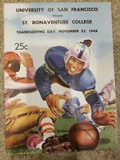 San Francisco University Dons St Bonaventure Football Program Bonnies college
