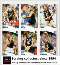 Popular--2009 Select AFL Sticker Base Team Set Carlton (12)