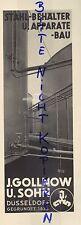 DÜSSELDORF Werbung 1952, J. Gollnow u. Sohn Stahl-Behälter-Apparate-Bau Maschine