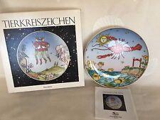"""Hutschenreuther piatto zodiaco """"cancro"""" porcellana 16 cm.designs by Ole Winther"""