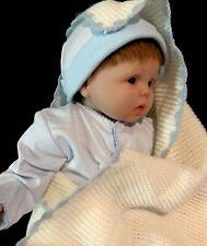 """Reborn Preemie Baby Doll Soft Vinyl Silicone Brown Hair15"""" Boy Cuddly Cloth Body"""