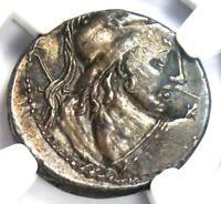 Roman Republic Cn. Com. Lentulus AR Denarius Mars Coin 88 BC - Certified NGC AU