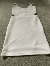 White Dress Miss Selfridge Bodycon Short Strappy Size 10