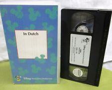 IN DUTCH animation 1946 Disney educational film Holland flood VHS Pluto & Dinah