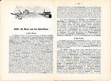 Werra Fulda Weser Aller Hip Hipp Hurra! 1897 orig. Reisef. f. Wasser-Wanderer KS