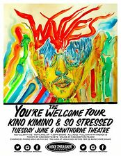 """Wavves """"The You'Re Welcome Tour"""" 2017 Portland Concert Poster - Indie/Noise Rock"""