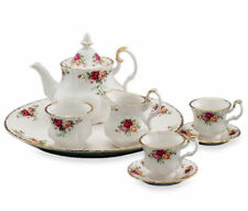 Royal Albert Old Country Roses Le Petite Mini Tea Set 8 PIECES NEW IN HAT BOX