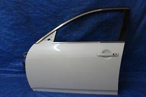 2007-2013 INFINITI G35 G25 G37 FRONT LEFT DRIVER SIDE DOOR COMPLETE WHITE OEM