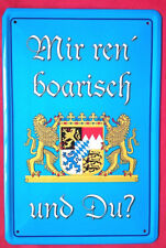 Escudo de chapa 20x30 me discursos ren Boarisch Bayerisch Freistaat Bayern emblema