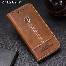 For LG G7 Fit Phone Case Leather Flip Wallet Stand Card Holder Back Cover 6.1''