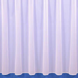 Sue Plain Lead Weighted Voile Net Curtain In White or Cream - Sold By The Metre