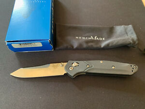 Benchmade 940 Black 943 Aluminum Scales — Excellent Condition
