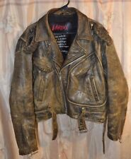 Vintage LA Roxx Leather Jacket Brown Leather Bomber Motorcycle Moto