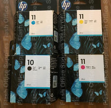 Genuine HP 10 & 11 inchiostro Catridge Set C4844A, C4836A/7A/8A 2017+ l'IVA stesso giorno _ POST